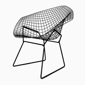 Sedia Diamond nera di Harry Bertoia per Knoll Inc. / Knoll International, anni '70