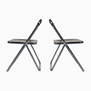 Plia Folding Chairs by Giancarlo Piretti for Castelli / Anonima Castelli, 1960s, Set of 4