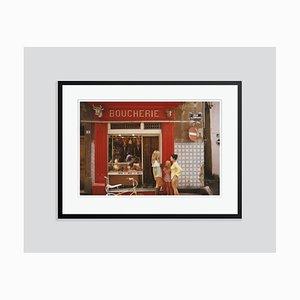 Impresión Boucherie Oversize C Saint-Tropez enmarcada en negro de Slim Aarons