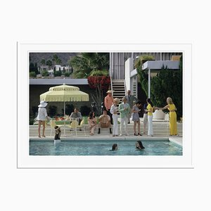 Kaufmann Desert House Oversize C Print Framed in White by Slim Aarons