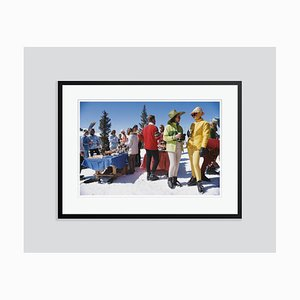 Snowmass Gathering Oversize C Print Framed in Black by Slim Aarons