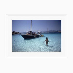 Yachting Trip Oversize C Print Framed in White by Slim Aarons