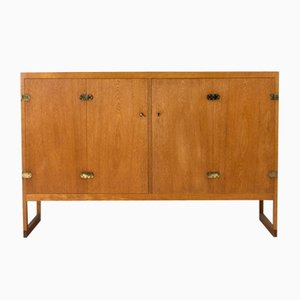 Oak Model BM57 Cabinet by Børge Mogensen for P. Lauritsen & Søn, 1950s