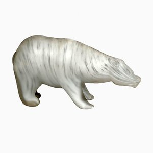 Orso Polare Sculpture by Walter Furlan and Salviati & C, 1970s