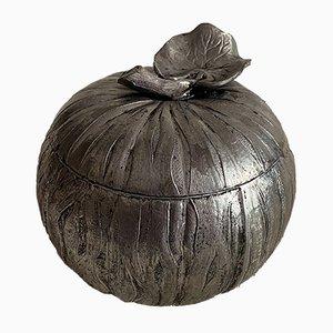 Italian Silver-Plated Pewter Pumpkin Ice Bucket, 1970s