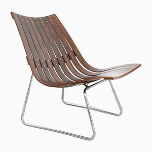 Mid-Century Rosewood Lounge Chair by Hans Brattrud for Hove Møbler