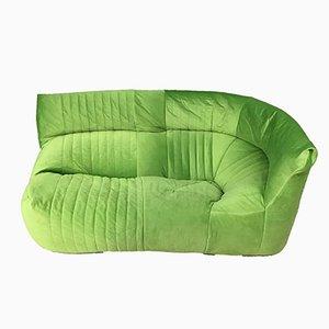 Französisches Vintage 2-Sitzer Grün Aralia Ecksofa von Ligne Roset, 1980er