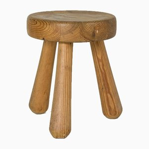 Pine Stool by Ingvar Hildingsson, 1960s
