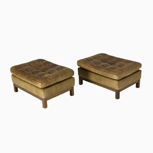 Leather Ottomans by Arne Norell, 1950s, Set of 2