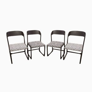 Sled Dining Chairs from Baumann, 1970s, Set of 4