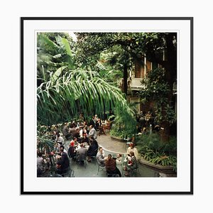 Brunch At Brennans Oversize C Print Framed in Black by Slim Aarons