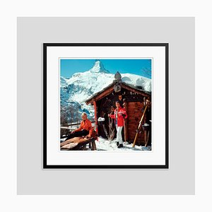 Chalet Costi Oversize C Print Framed in Black by Slim Aarons