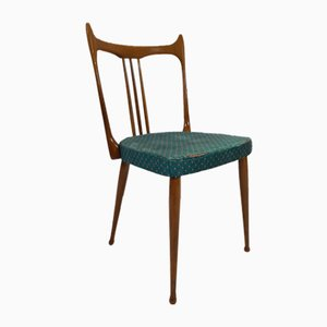 Mid-Century Dutch Wooden Dining Chairs from Stevens Nedeland, 1950s, Set of 4