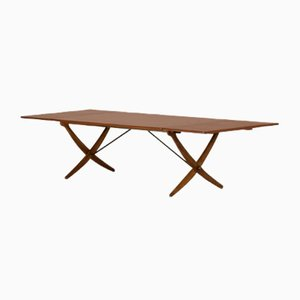 Mid-Century Serb Leg Dining Table by Hans J. Wegner for Andreas Tuck