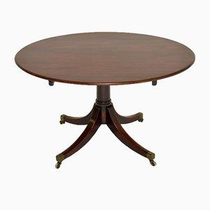 Antique Georgian Mahogany Tilt Top Dining Table