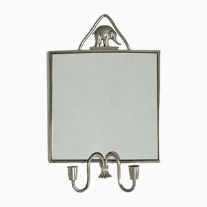 Pewter Mirror by Estrid Ericson for Svenskt Tenn, 1930s