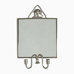 Pewter Mirror by Estrid Ericson for Svenskt Tenn, 1930s