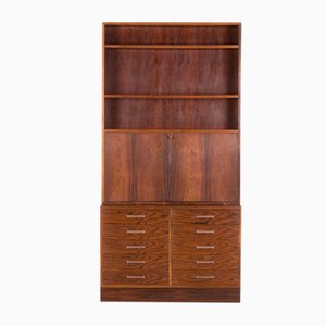 Danish Rosewood Drop Front Secretaire by Axel Christensen for ACO Møbler, 1960s