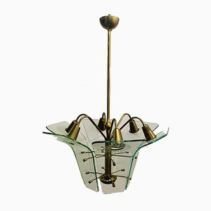 Lámpara de techo de Fontana Arte, años 50