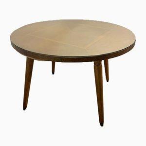 Tavolo da pranzo rotondo in legno di quercia laccato, anni '60