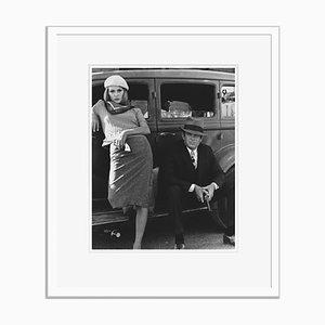 Warren Beatty und Faye Dunaway Archival Pigment Print Gerahmte in Weiß
