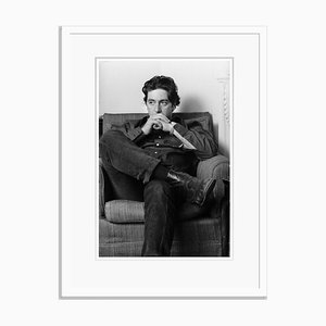 Al Pacino Thoughtful Al Archival Pigment Print Framed in Black by Steve Wood