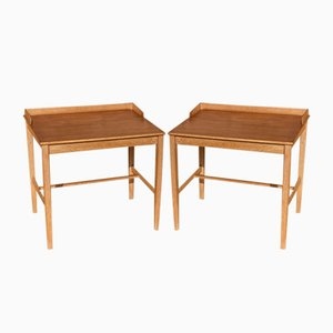 Oak and Teak Nightstands by Alf Svensson for Tilgmans Mobelfabrik, 1960s, Set of 2