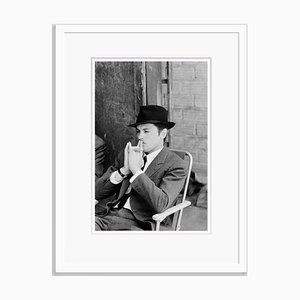 Weißes Alain Delon Archival Pigment Print von Giancarlo Botti
