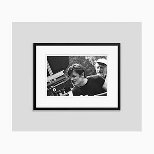 Alain Delon Filming Archival Pigment Print Framed in Black by Giancarlo Botti