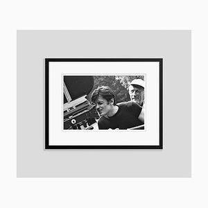 Stampa Alain Delon di Pigment Print Framed in nero di Giancarlo Botti
