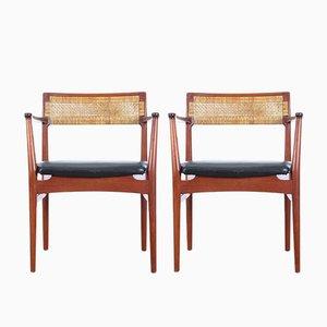 Mid-Century Modern Scandinavian W26 Armchairs by Erik Wørts for Henrik Wørts Møbelsnedkeri, 1950s, Set of 2