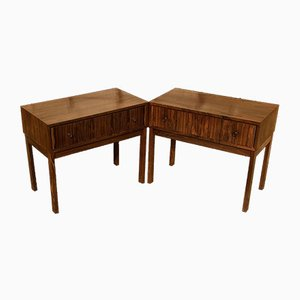 Mid-Century Rosewood Nightstands, 1970s, Set of 2