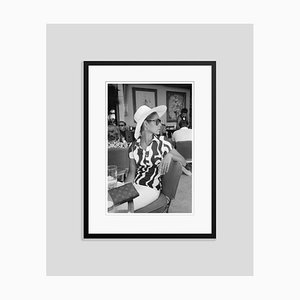 Palm Bay Club Silver Fibre Gelatin Print Framed in Black by Slim Aarons