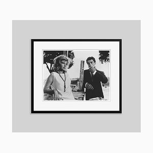 Alain Delon and Monica Vitti Archival Pigment Print Framed in Black