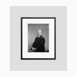 Alfred Hitchcock Silver Gelatin Resin Print Framed in Black by Baron