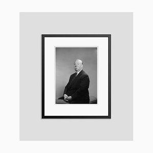 Stampa Alfred Hitchcock argentata e verniciata in nero di Baron
