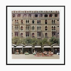 Hotel Excelsior Oversize C Print Framed in Black by Slim Aarons