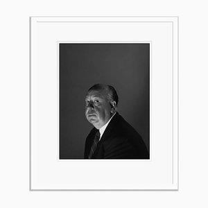 Stampa Alfred Hitchcock in resina gelatinosa argentata bianca di Baron
