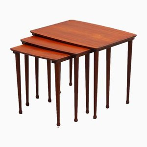 Scandinavian Teak Nesting Tables, 1950s
