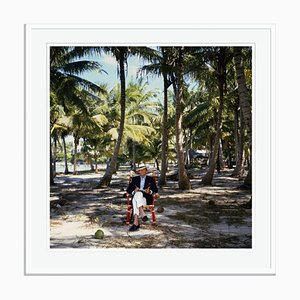 Abaco Islander Oversize C Print Framed in White by Slim Aarons