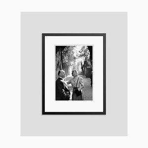 Bergman in London Silver Gelatin Resin Print Framed in Black by Kurt Hutton