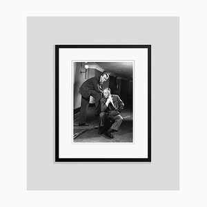 Hitchcock and Stewart Silver Gelatin Resin Print Framed in Black by Baron