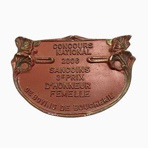 Plaque Contest Agricole Rouge Sancoins, 2006