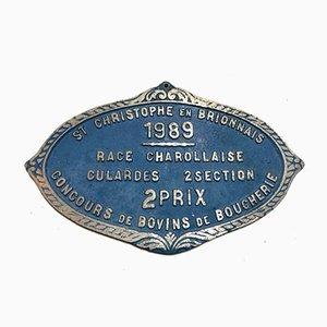 Plaque Concurrentielle Agricole Saint Christophe en Brionnais, 1989
