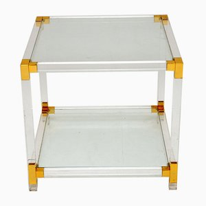 Vintage Glass and Acrylic Coffee Table, 1970s