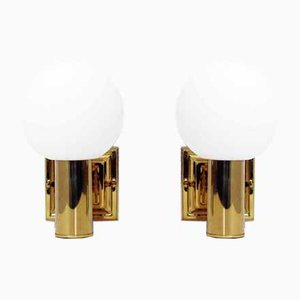 Vintage Brass Sconces from Leclaire & Schäfer, Set of 2