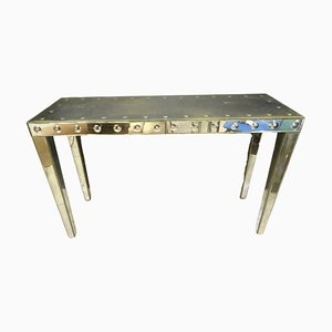 Vintage Art Deco French Mercury Mirror Console Table, 1940s