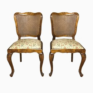Louis XV Style Caned Dining Chairs, 1940s, Set of 6