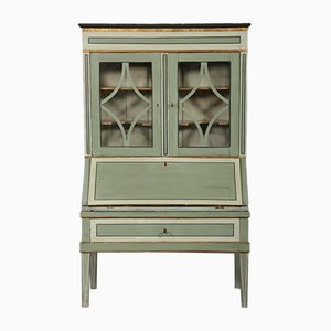 Antique Gustavian Secretaire with Glass Top