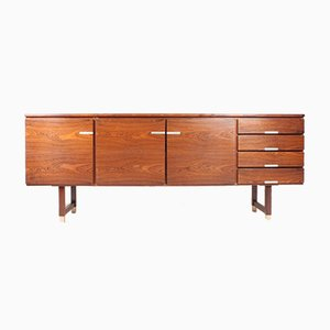 Mid-Century Rosewood Low Sideboard by Ejgil Petersen, 1960s
